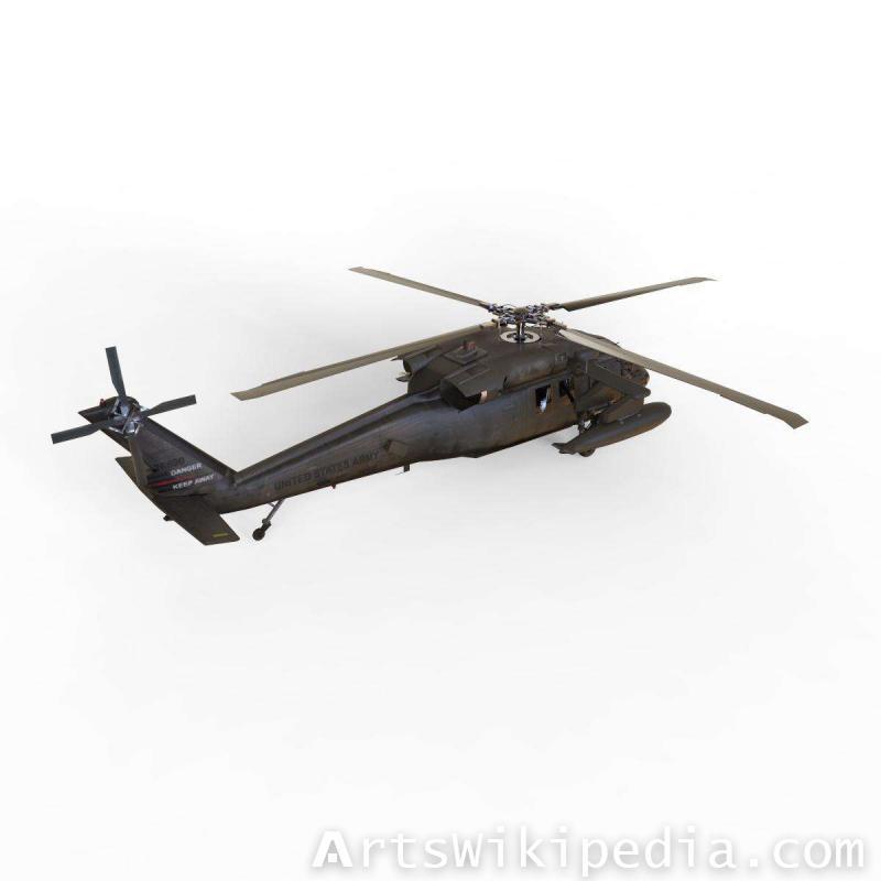 3d Sikorsky UH-60
