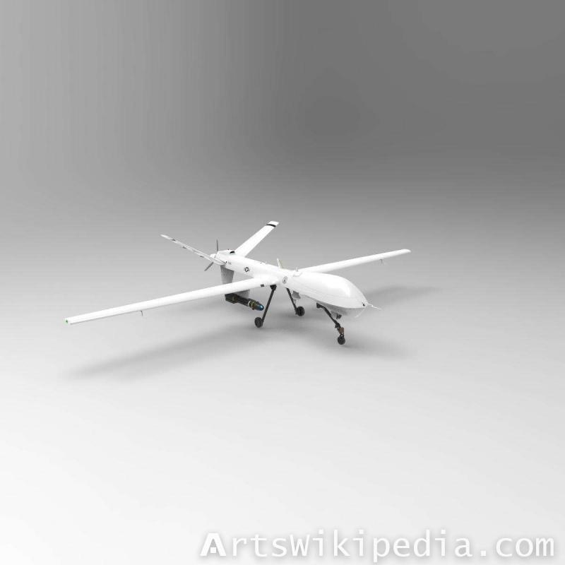 3d General Atomics MQ-9 Reaper