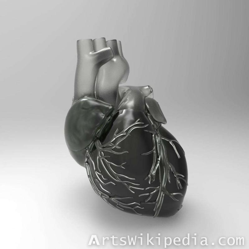 glass 3d heart