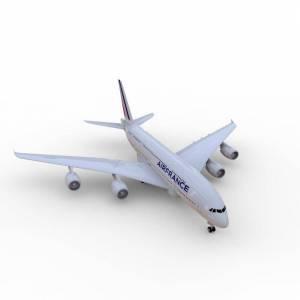 free-3d-air-france-airbus-a380
