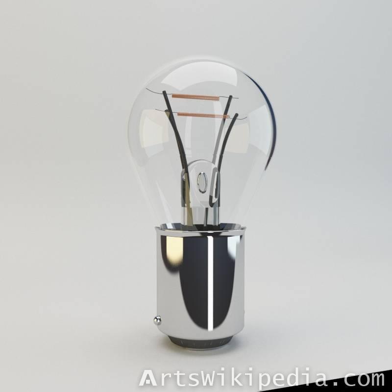 3d car light bulb