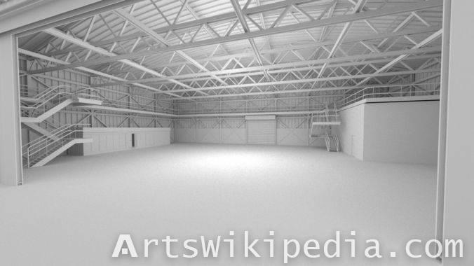 3d Free untextured garage