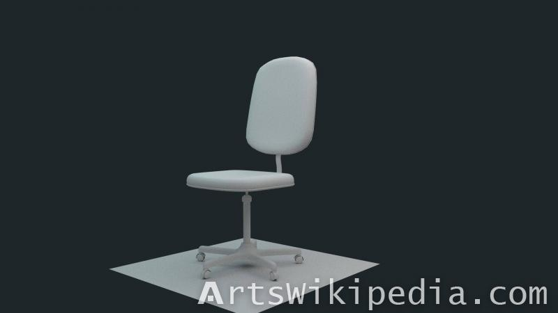 3d Free untextured Office chair