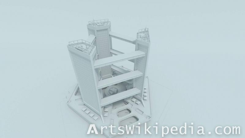 free untextured 3d tower