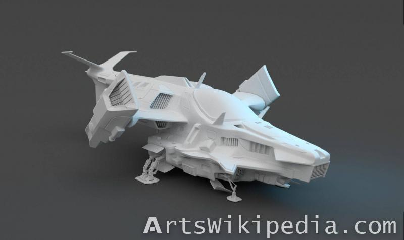 Free 3d untextured Sci-Fi spaceship