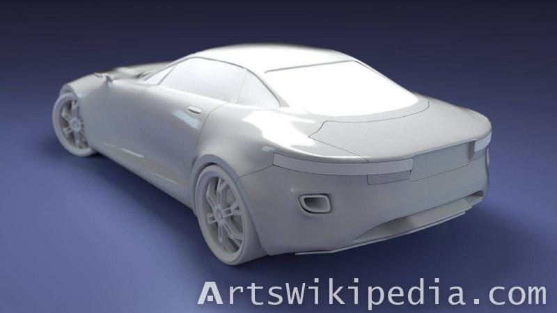 free 3d untextured car concept