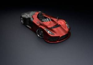 free-3d-red-car-concept