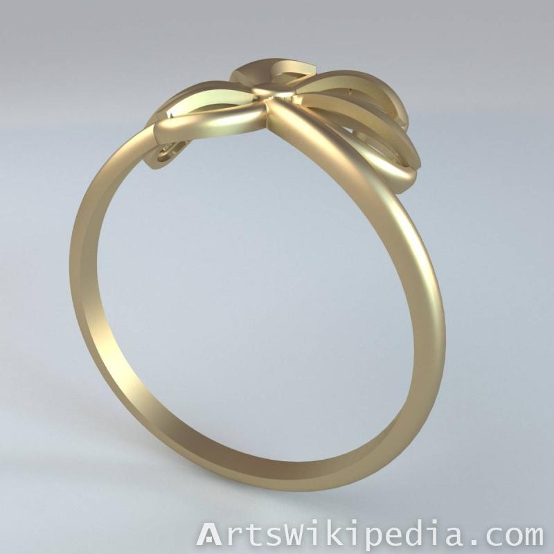 3d Flower Ring stl