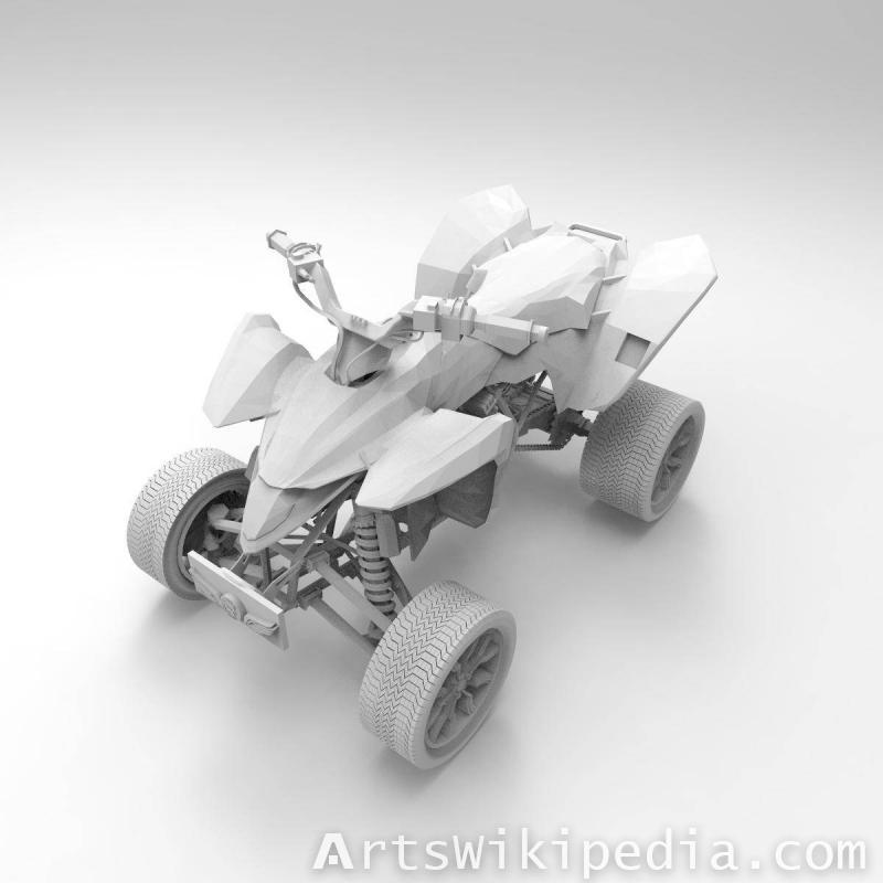 3d untextured Quad Suzuki ATV