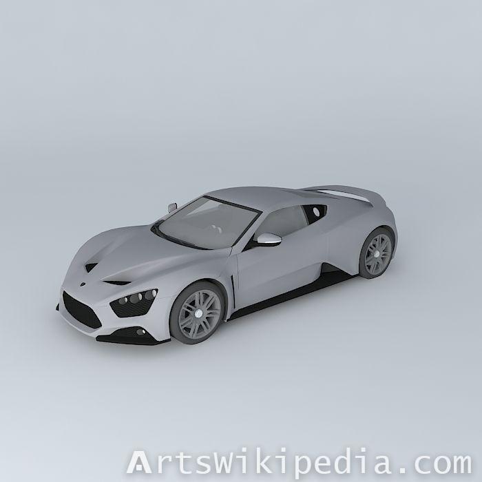 3d  free Zenvo ST1 2010