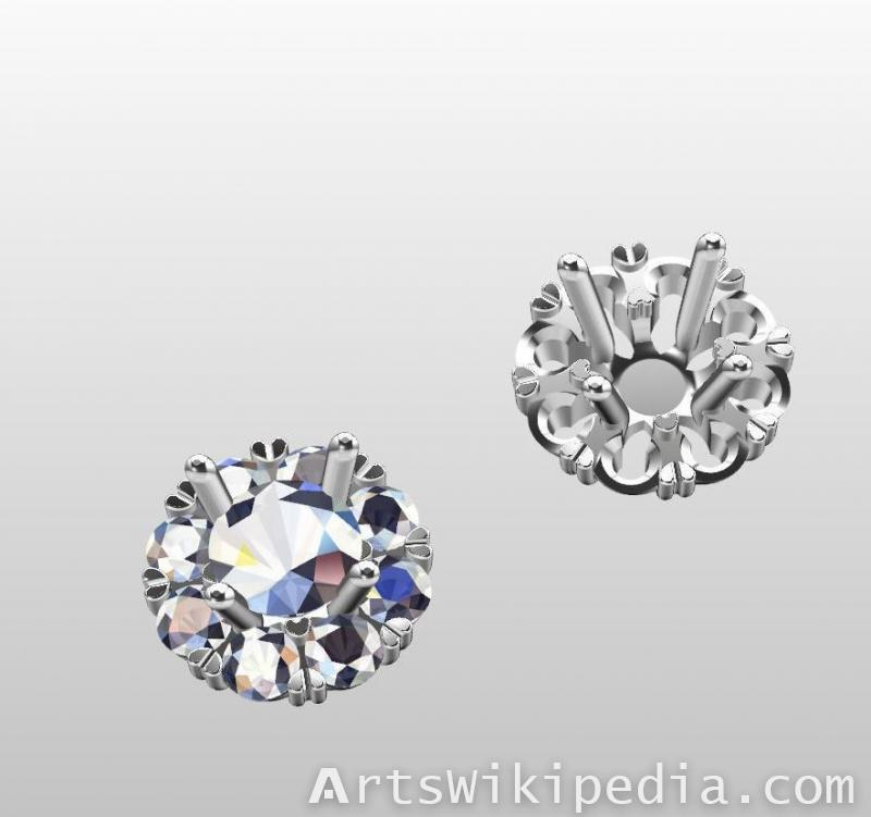 3d flower earrings rhino