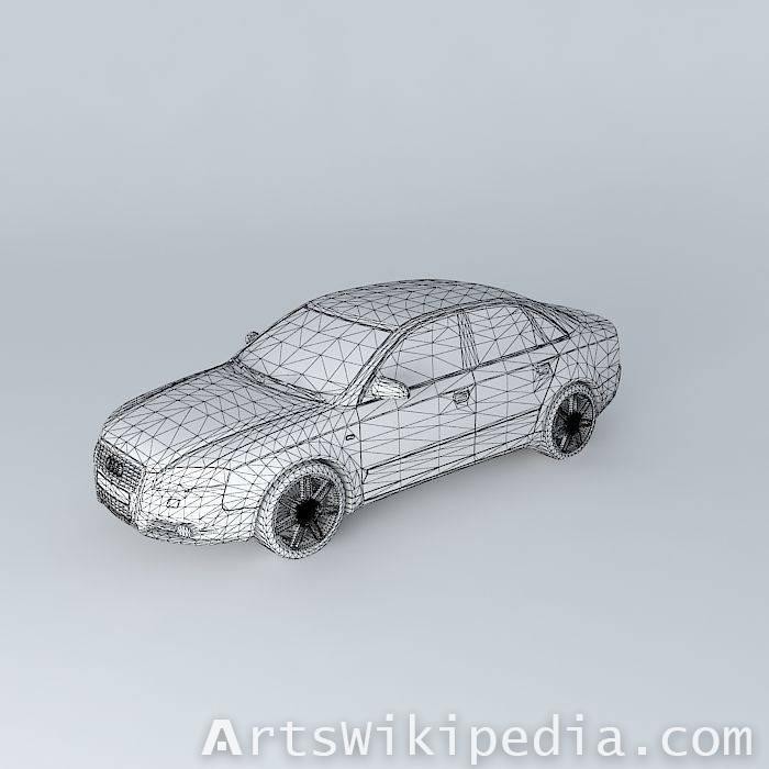 3d free gray Audi S4 B7 Typ 8EC 2006