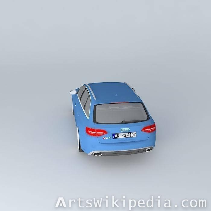 free 3d Audi RS4 Avant b8