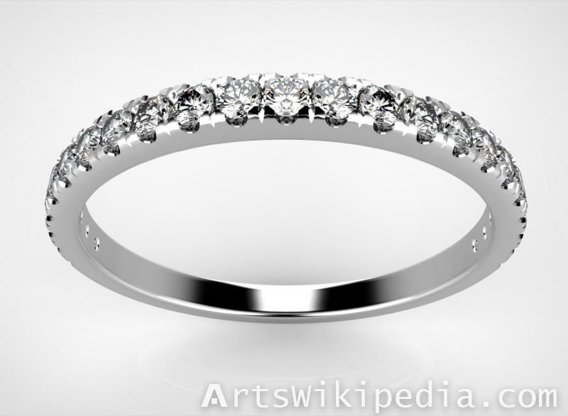 free 3d diamonds row ring
