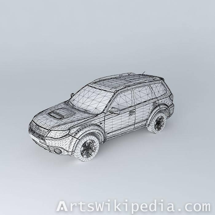 free 3d blue Subaru Forester 2.5 XT SH 200