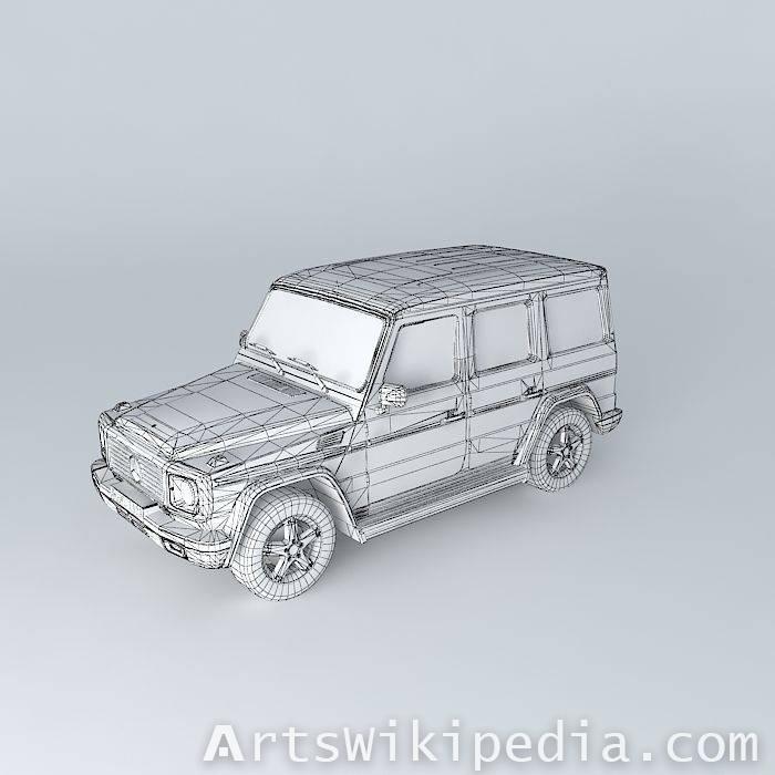 Free 3d Mercedes-Benz G500 Helendwagen