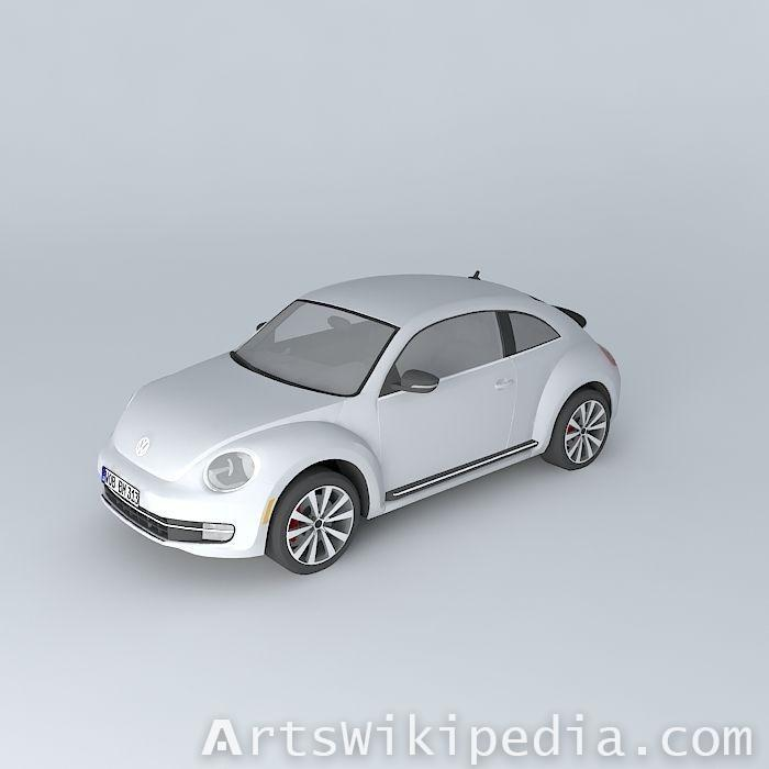 free 3d Volkswagen Beetle Turbo A5 2012
