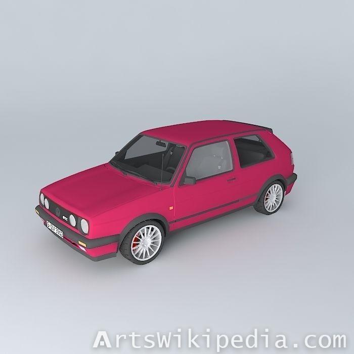free 3d Volkswagen Golf Mk2 GTI 1989