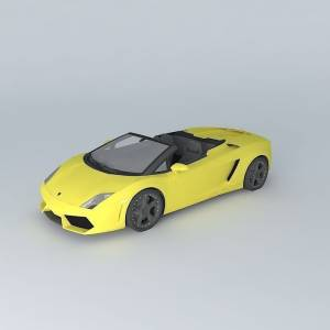 free 3d yellow Lamborghini Gallardo LP560-4  2009
