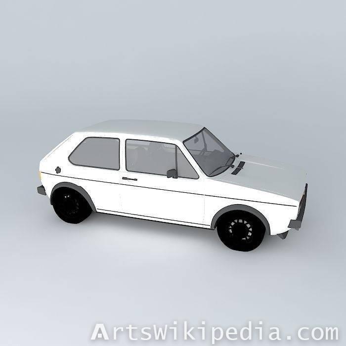 3dVolkswagen Golf Mk1 GTI