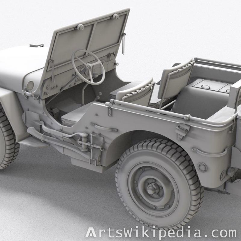 free blender3d wwii willys jeep 1940