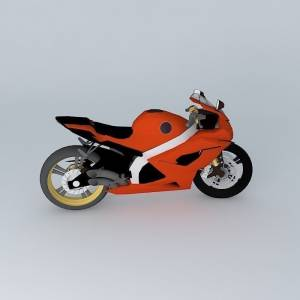 Free Red 3d motorcycle