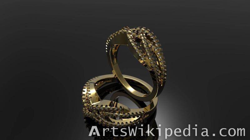 free rhino 3d gold ring