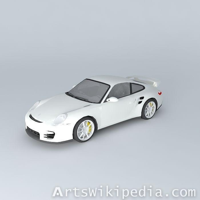 free white porsche- 911 GT2 2009