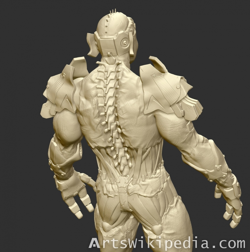 Zbrush Cyborg Character