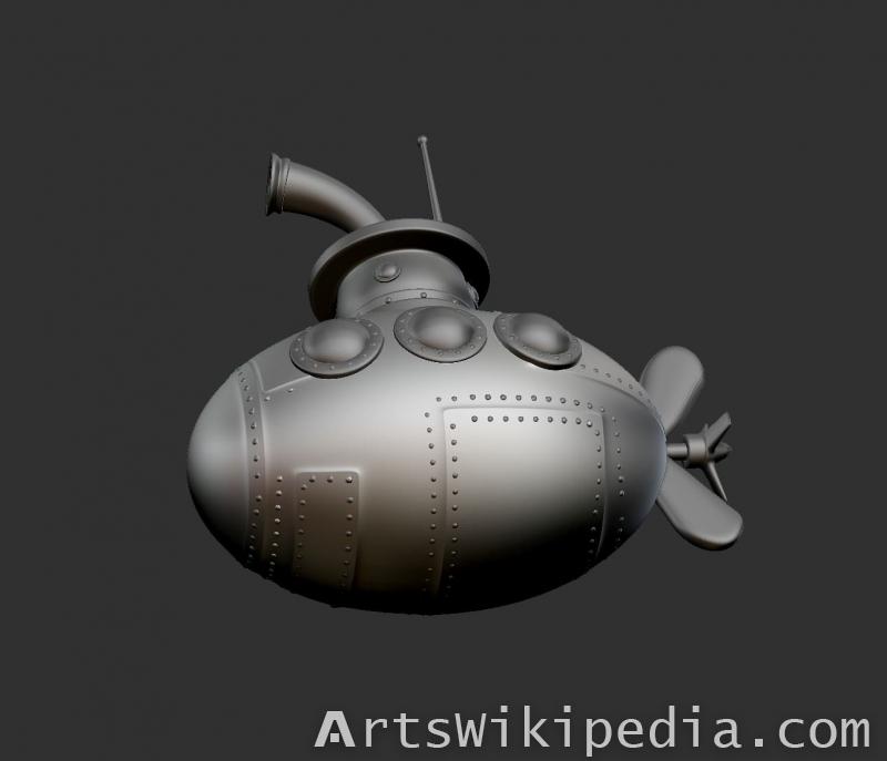 Zbrush Submarine
