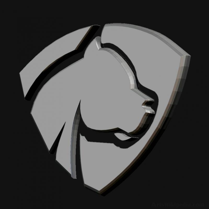 3D Dog Logo