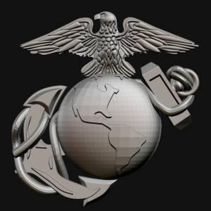 3D USMC Logo