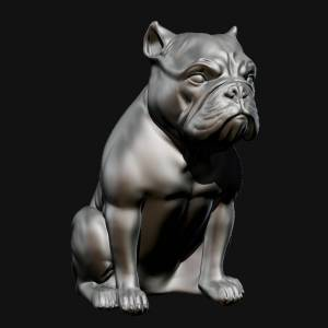 short-bulldog-sculpture