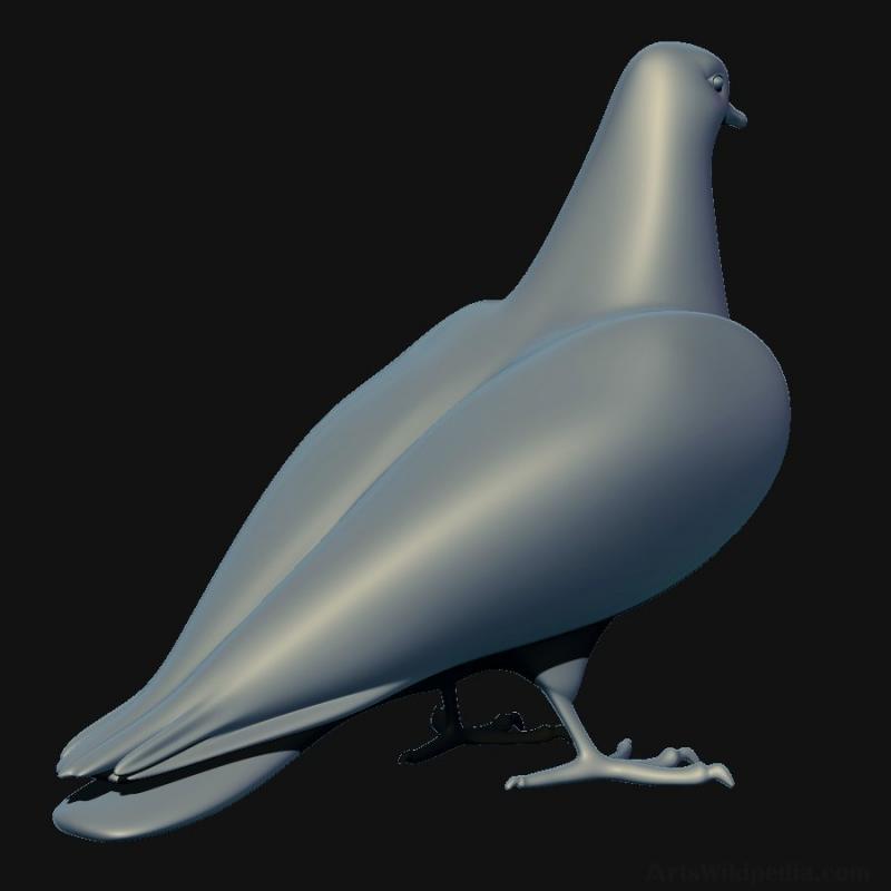 3d Doves Models