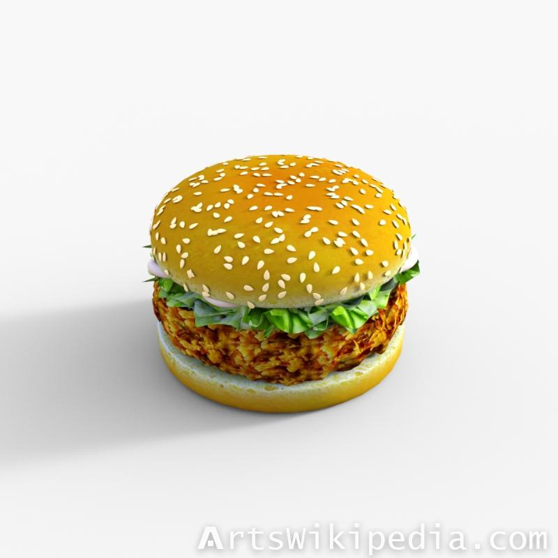 Chicken Burger daz3d