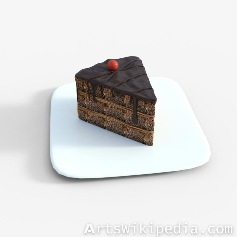 Chocolate Cake Daz3d