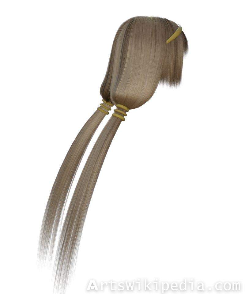 Naotora Li Style Daz3d Hair
