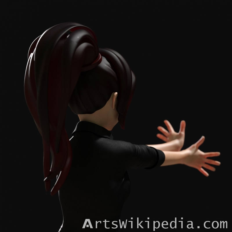 Daz3d Anime hair for G8