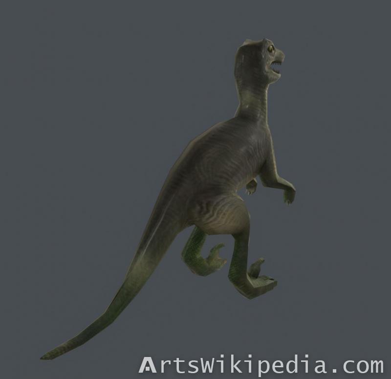 3d Velociraptor Animated game model.