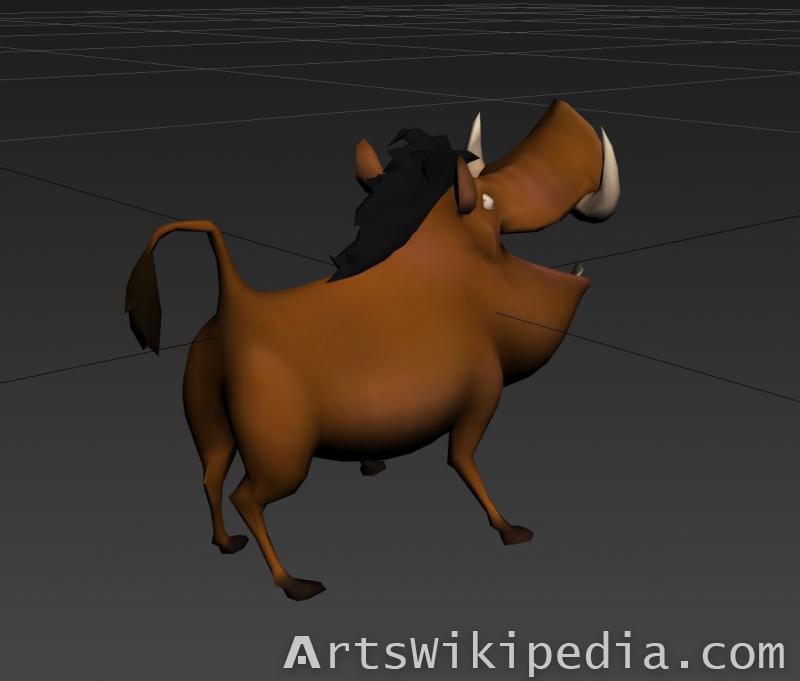 free Pumba 3d model