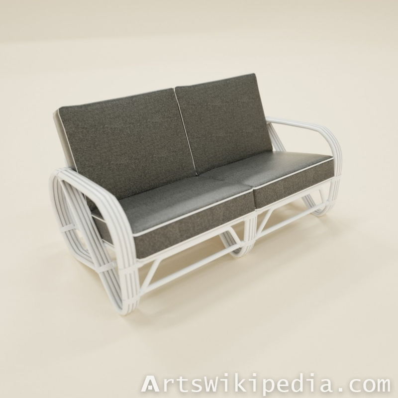 two seater sofa gray on white