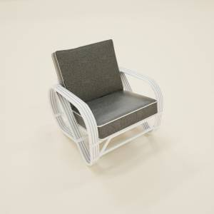 Arm Chair gray on white