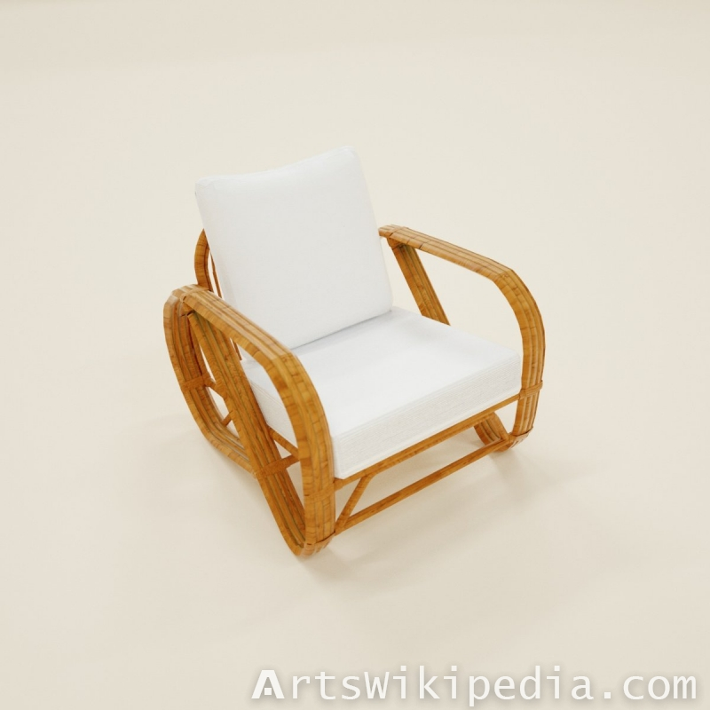 Arm Chair white and wood