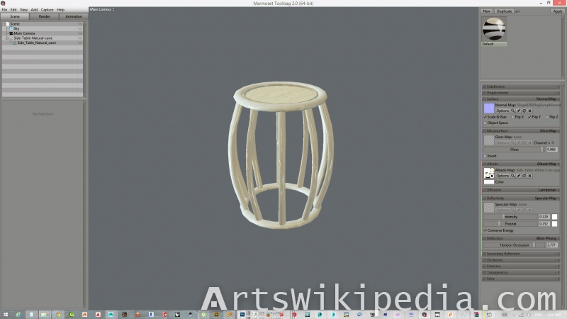 free 3d low polygons white side table