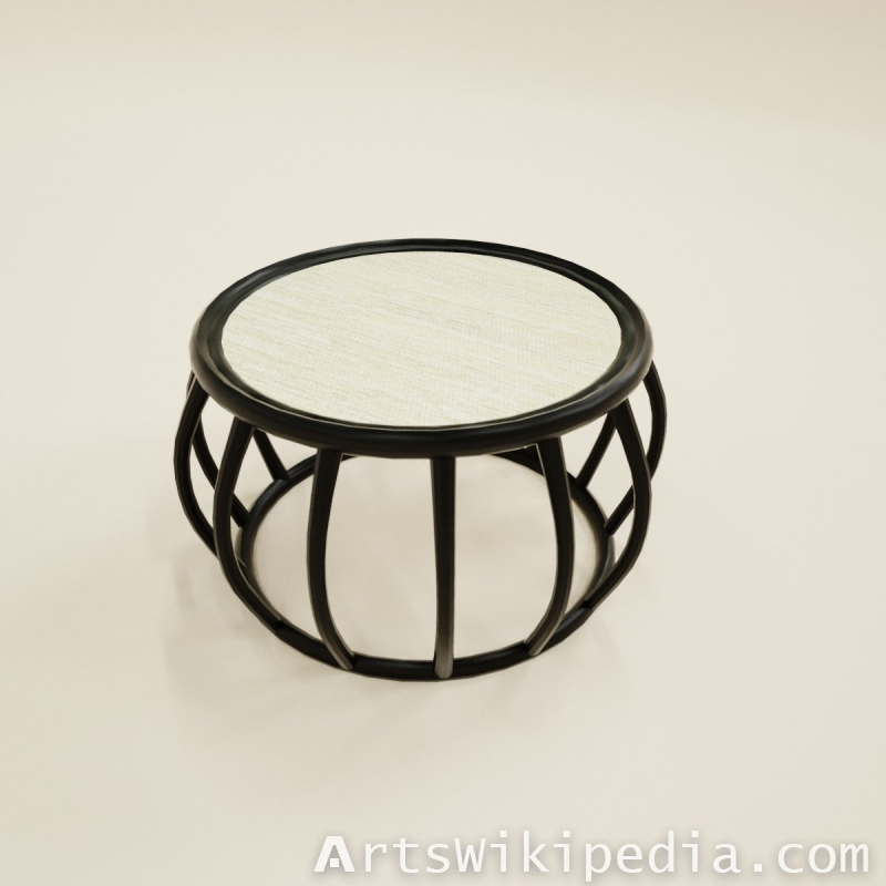 3d black bongo coffee table