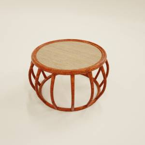 3d natural cane coffee table