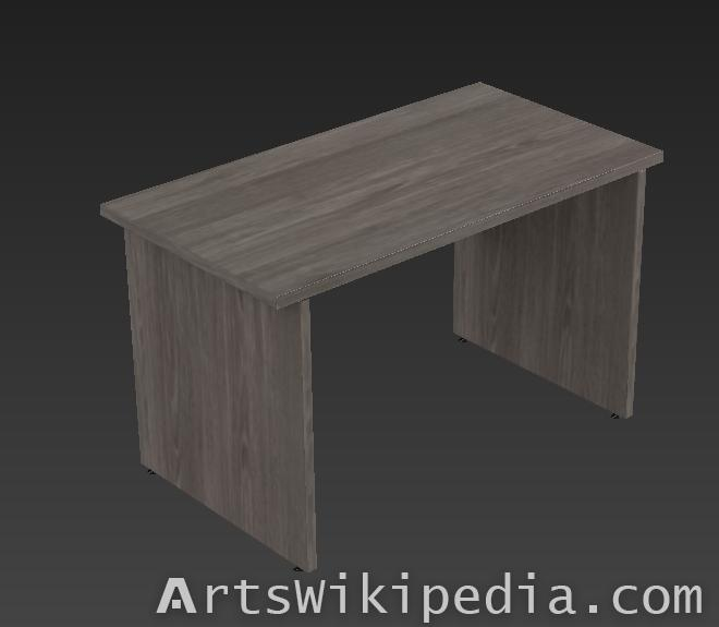 Free Low polygons  Wood Desk