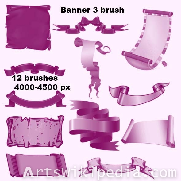 Banner high resolution brushes