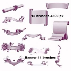 banner and ribbon brushes