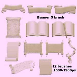 old paper banner brushes photoshop